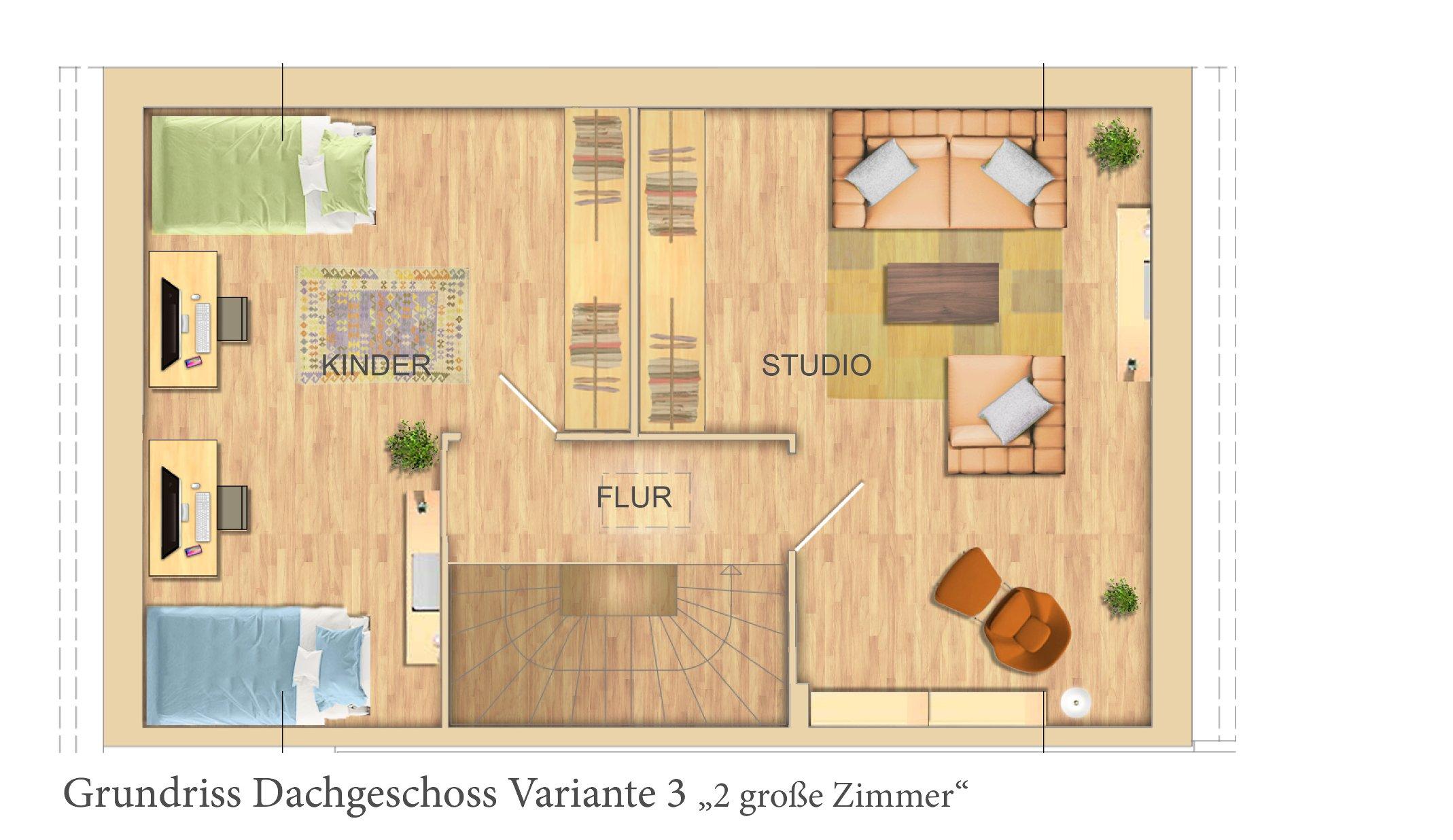 DG mit 2 Zimmern