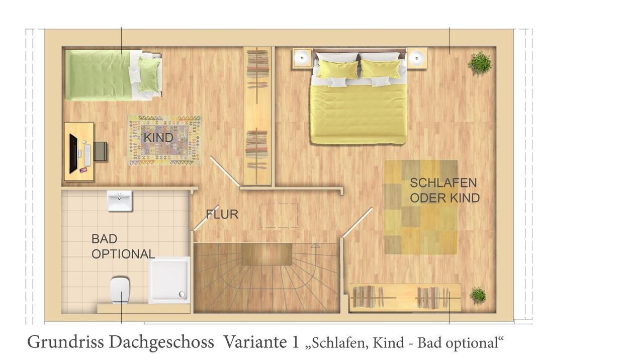DG Variante 2 Zimmer+Bad