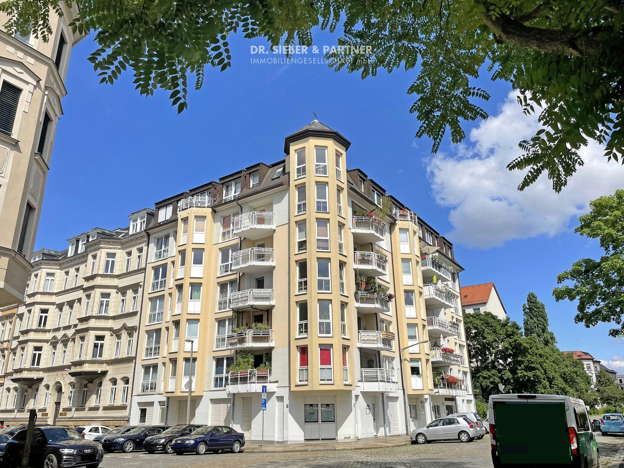 Leipzig - VERKAUFT * In die City 5 Minuten mit dem Rad * Moderne 2-RW mit Balkon und Einbauküche * TG-Stellplatz