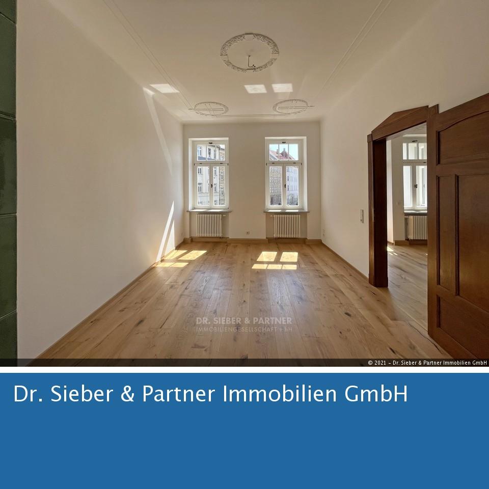 Leipzig - RESERVIERT * Elegant sanierte Jugendstil-Wohnung mit Südbalkon in zentraler Lage in Gohlis